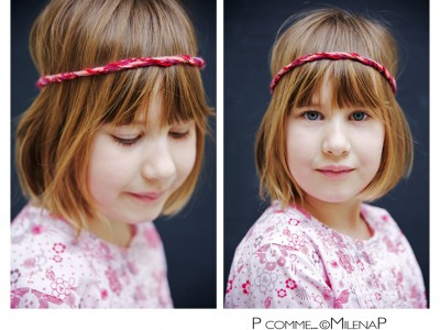 Portrait-photographe professionnel, enfant, studio, Paris, headband