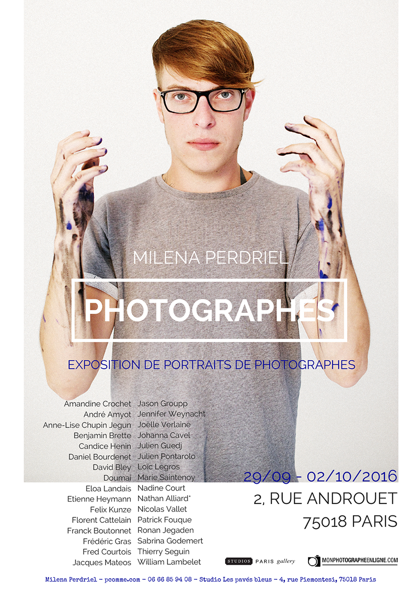 portrait, photographe, exposition, personnelle, studios de Paris, Montmartre, art, portrait d'art,