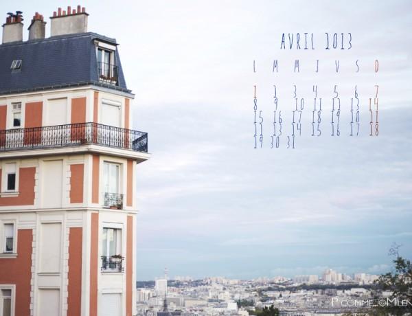 Photographe, calendrier, paris, création, paysage, avril 2013, montmartre