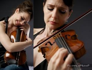 portrait-glamour, paris, photographe, femme, féminité, beauté, studio, séance photo, violon, passion, musique