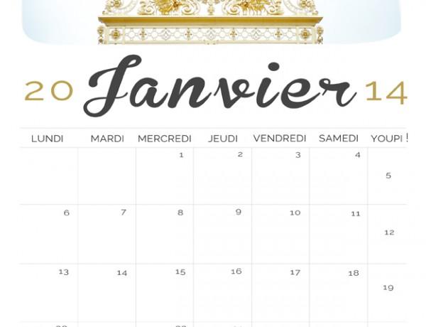 Calendrier 2014, Janvier 2014, gratuit, à télécharger, photographe, Paris, portrait, professionnel, voeux,