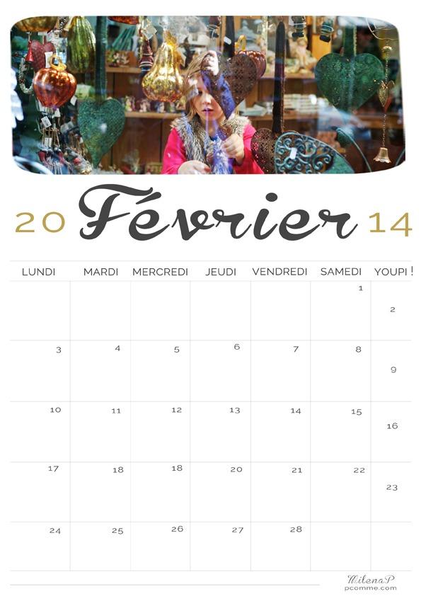 Calendrier, 2014, Février, photogrpahe, Paris, portraits 14, Saint Valentin, calendrier, freebies, printable