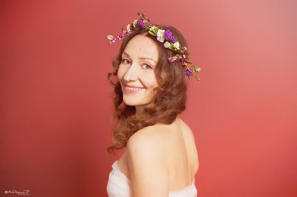 Portrait, photographe, Paris, artiste, book, portrait de femme, style bohème, fleurs, cadeau