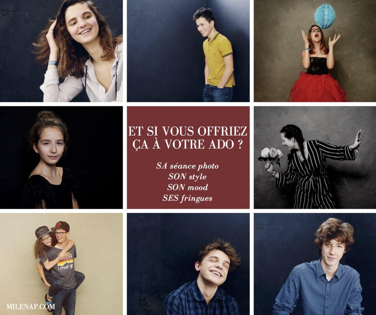 séance photo, ado, adolescent, cadeau, cadeau original, confiance en soi, portrait, Paris, Paris 18, studio photo